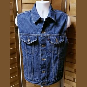 LEVI'S DENIM VEST M BLUE JEAN SF CAL SLEEVELESS
